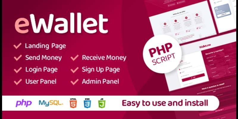 eWallet v3.0 – PHP Script