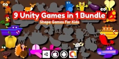 Edukida 9 Unity Shape Matching Games in 1 Bundle