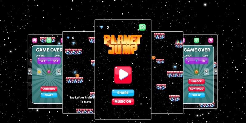 Planet Jump - Buildbox Template
