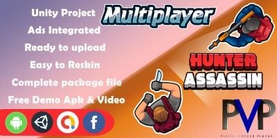Hunter Assassin Online Multiplayer Unity Game