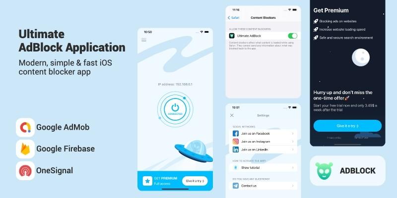 Ultimate AdBlock - iOS App Template