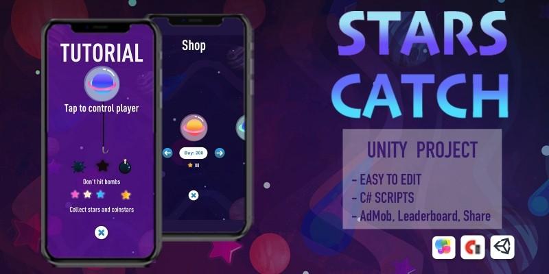 Stars Catch - Unity Source Code