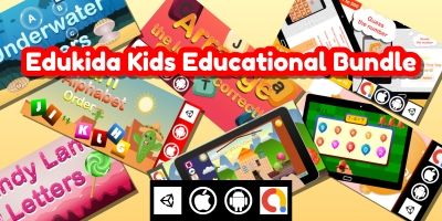 Edukida 7 Unity Kids Educational Games in 1 Bundle