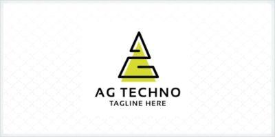 AG Letter Techno Logo