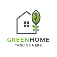 Professional Green Home Logo