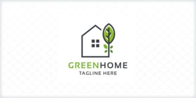 Professional Green Home Logo