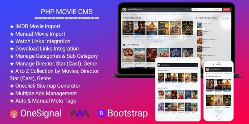 PHP Movie CMS - Download Portal