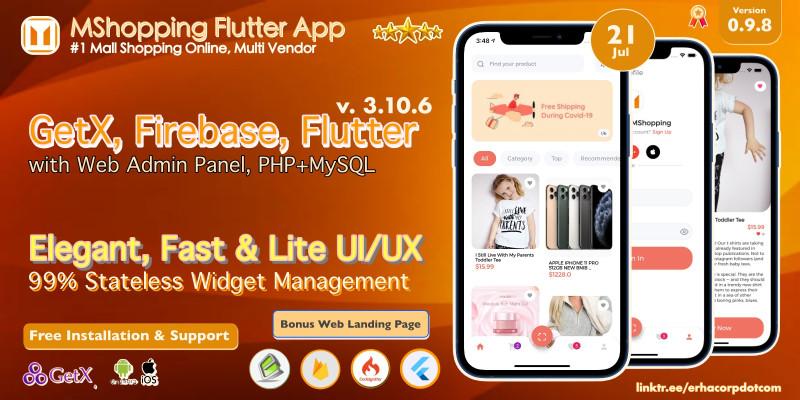 MShopping - Mall Shopping Flutter - Admin Panel
