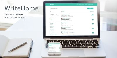 WriteHome - Laravel Website for Writers to Share