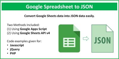 Google Sheets To JSON