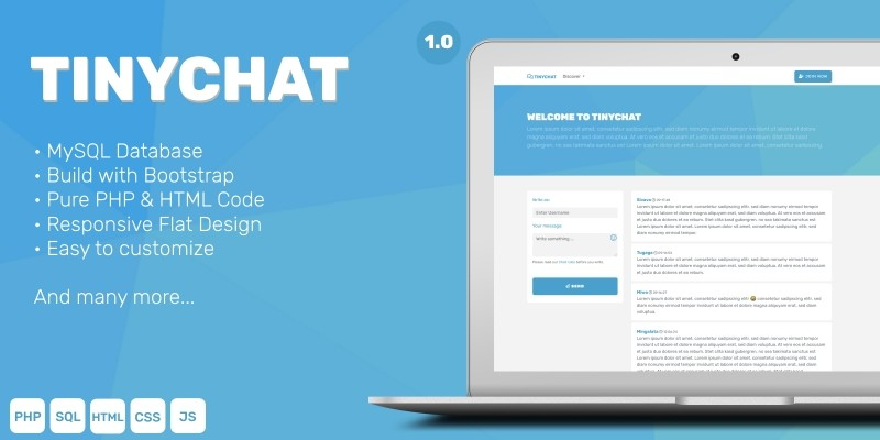 TinyChat - Simple Chat PHP Script