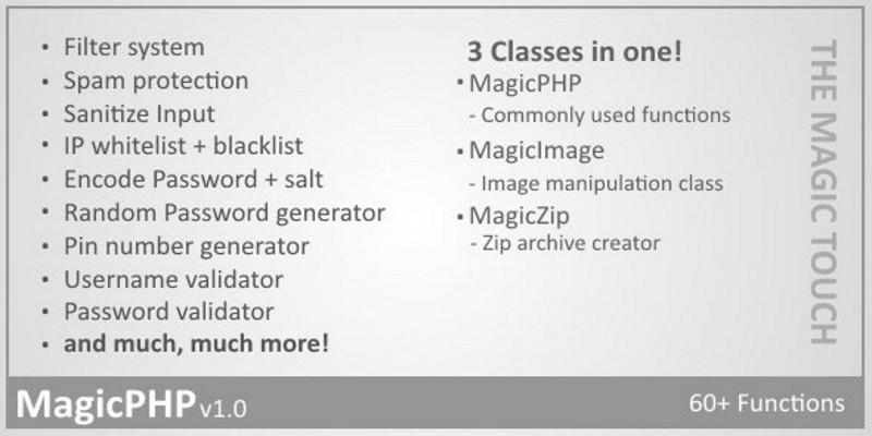 MagicPHP - Useful Web Development Functions