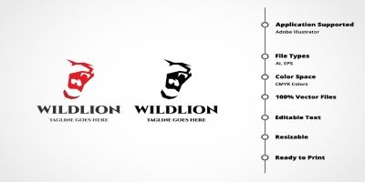 Professional Wild Lion Logo