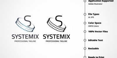 Letter S - Systemix Logo