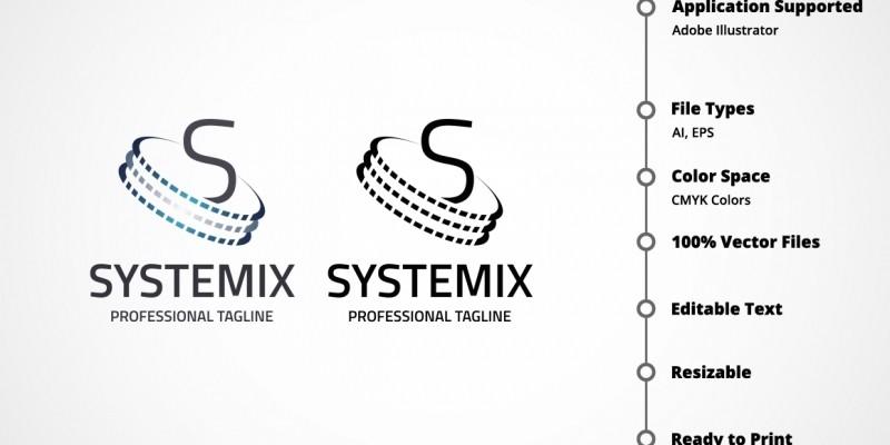 Letter S - Systemix Logo
