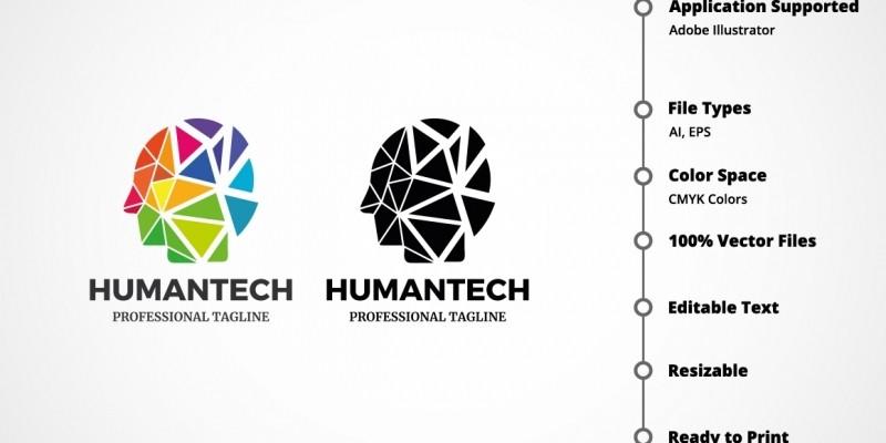 Professional Human Tech Logo
