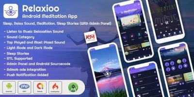 Relaxioo - Meditation Music Application with Admin