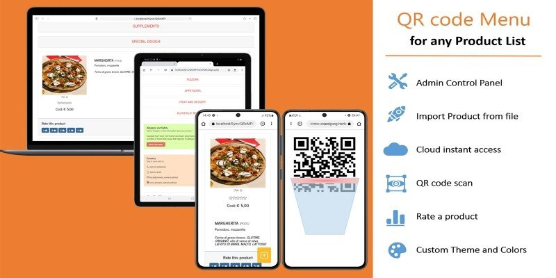 QR Code Menu For Any Product List