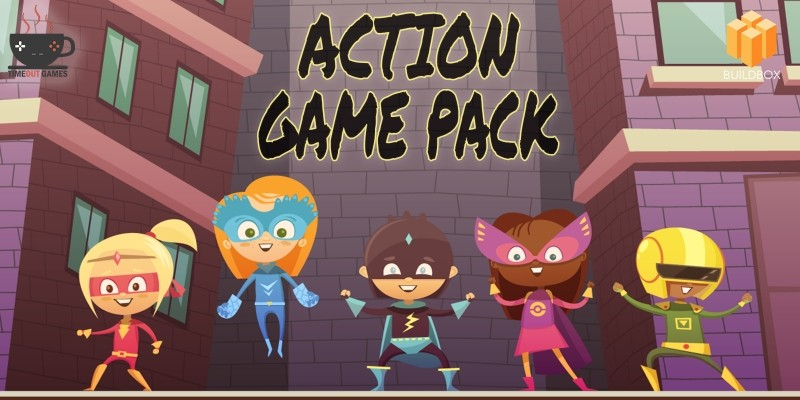 Action Game Pack - 9 Buildbox Games