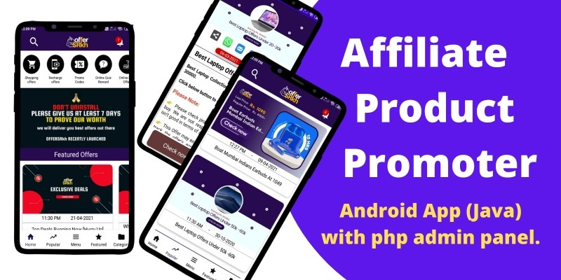 Affiliate Product Promoter App For Android