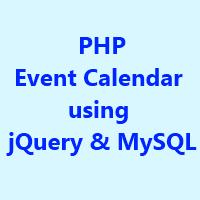 PHP Event Calendar using jQuery & MySQL