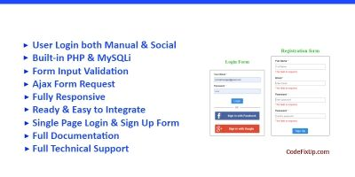 Social Media Login Registration System In PHP