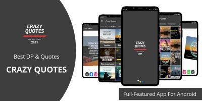 Crazy Quotes- Full Featured App Android Java