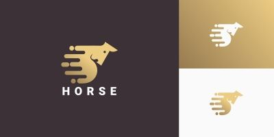 Horse Modern Creative Logo