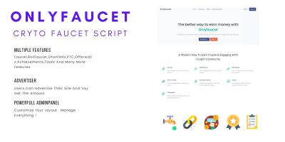OnlyFaucet - Simple Crypto Faucet