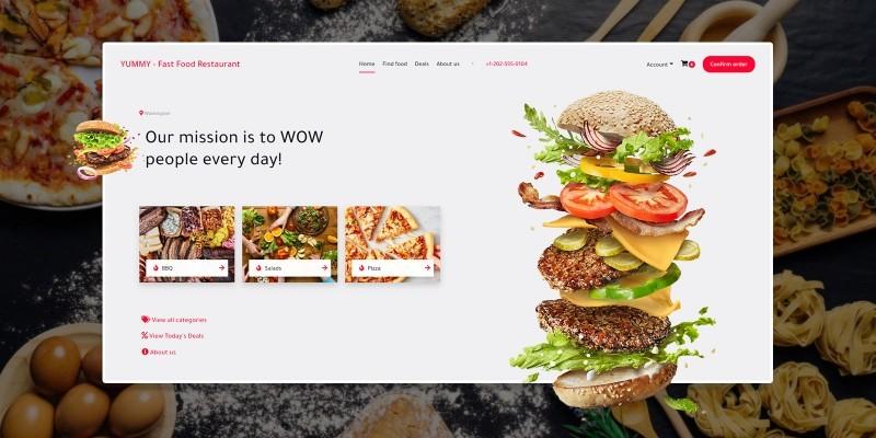 Yummy - Fast Food Restaurant PHP Script