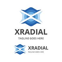 XRadial - Letter X Logo