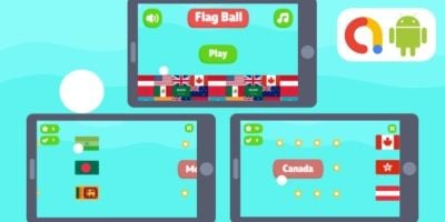 Flag Ball Buildbox Game with AdMob Ads