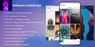 Wallpapers Android App With Admob