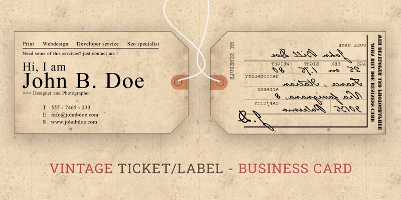 Label Style Business Card
