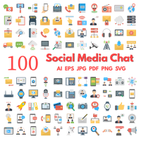 Social Media and Chat Icon Pack
