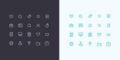 Minimal UI Icon set - 4 versions