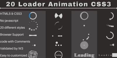 20 Loader Animation CSS3