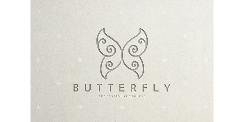 Abstract Butterfly Logo Template
