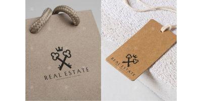 Real Estate Logo Template Vintage Style