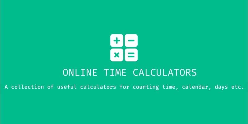 React Time Calculators