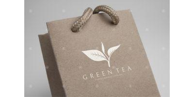 Green Tea Leaves Logo Template