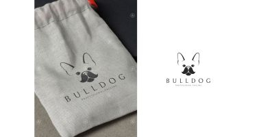 French Bulldog Logo Template
