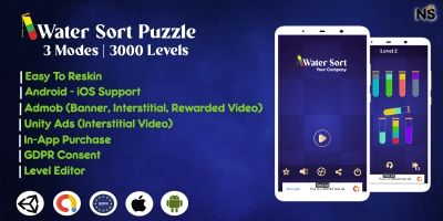 Water Sort Puzzle Template With Admob Unity