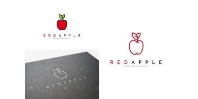 Red Apple Logo Template