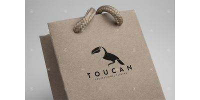 Toucan Logo Template. Abstract Bird