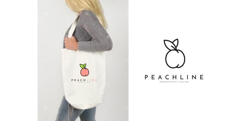 Peach Logo Template