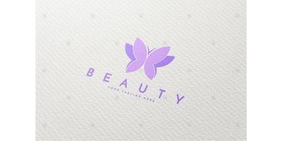 Purple Butterfly Logo Template