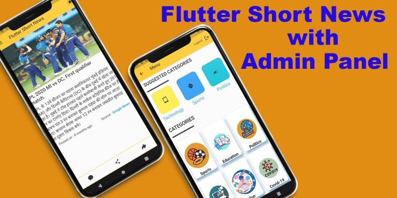 Flutter Shorts News with Admin Panel