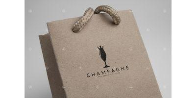 Champagne Logo Template