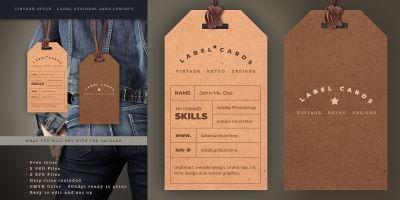 Vintage Label Style Business Card v2